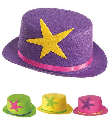 CLOWN TOPPER W/STAR NEON FELT - 4 colours