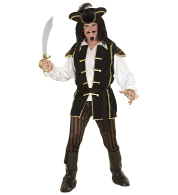 PIRATE CAPTAIN( shirt w/vest pants hat b/covers)