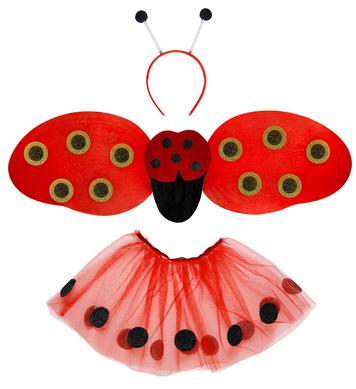 LADYBUG DRESS UP SET - CHILD SIZE (tutu wings antenna)