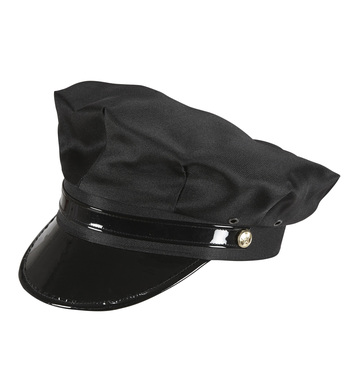 CHAUFFEUR HAT BLACK WITH BLACK PEAK