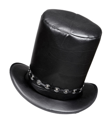 LEATHERLOOK TOP HAT