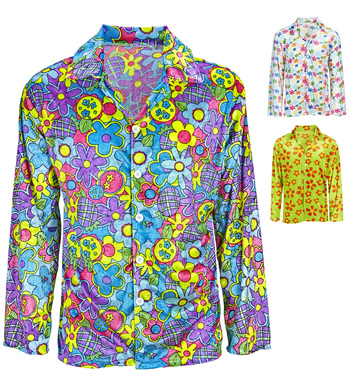 HIPPIE FLOWER SHIRT VELVET