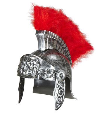 ANTIQUATED SILVER ROMAN HELMET