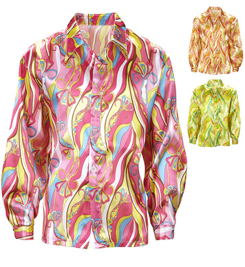 70s MOD SHIRT (pink/orange/green)