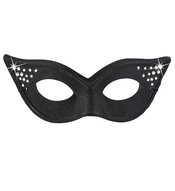 CAT EYE BLACK GLAMOUR EYEMASK WITH STRASS