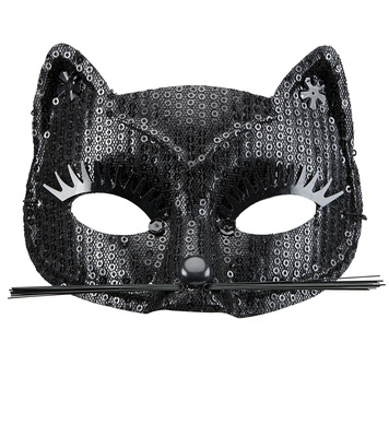 BLACK SEQUIN CAT EYEMASK