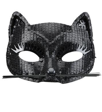 BLACK SEQUIN CAT EYEMASK