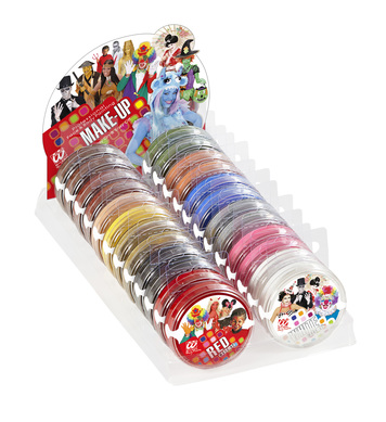 MAKEUP IN TRAY 24g - DISPLAY OF 24 (Assorted colours)