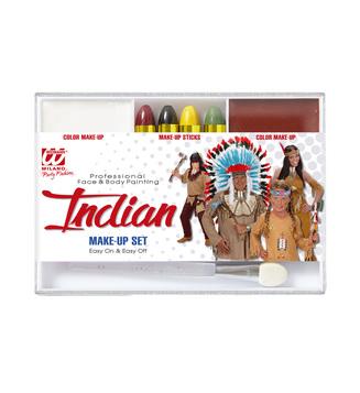 INDIAN MAKEUP SET (4 makeup sticks makeup remover applicator