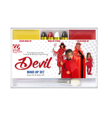 DEVIL MAKEUP SET (4 makeup sticks makeup remover applicator)