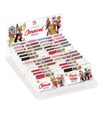 CARNIVAL MAKEUP SET - DISPLAY OF 24