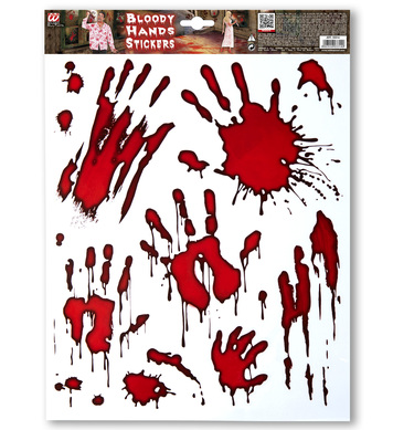 BLOODY HANDS STICKERS