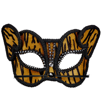 TIGER EYEMASK WITH STRASS