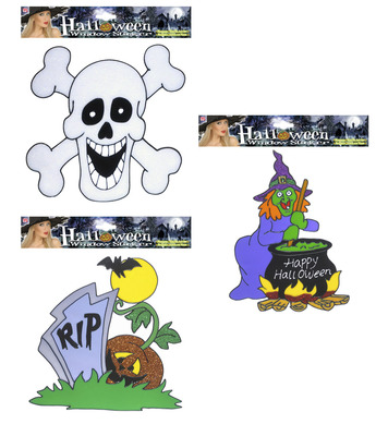 WINDOW STICKERS - HALLOWEEN - 3 styles