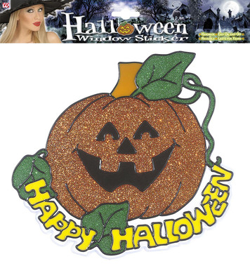 WINDOW STICKERS - HAPPY HALLOWEEN PUMPKIN 25cm