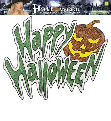 WINDOW STICKERS - HAPPY HALLOWEEN PUMPKIN 36cm