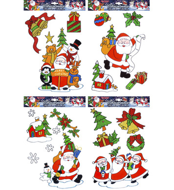 WINDOW STICKERS - CHRISTMAS ASSTD