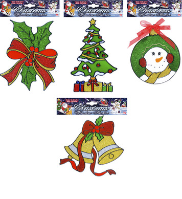 WINDOW STICKERS - CHRISTMAS - 4 styles