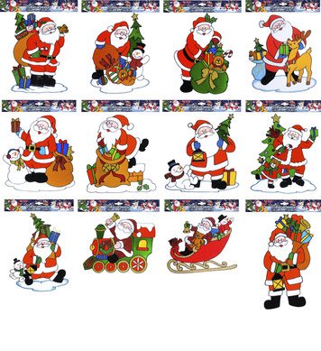 WINDOW STICKERS - SANTA CLAUS - 12 styles
