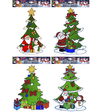 WINDOW STICKERS - CHRISTMAS TREE - 4 styles