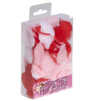BOX OF 150 PETALS - RED PINK & WHITE ASSTD