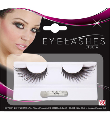 EYELASHES SPIKED WINGS SHAPE BLACK