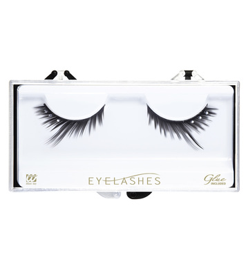 EYELASHES BLACK PEAKED STRASS