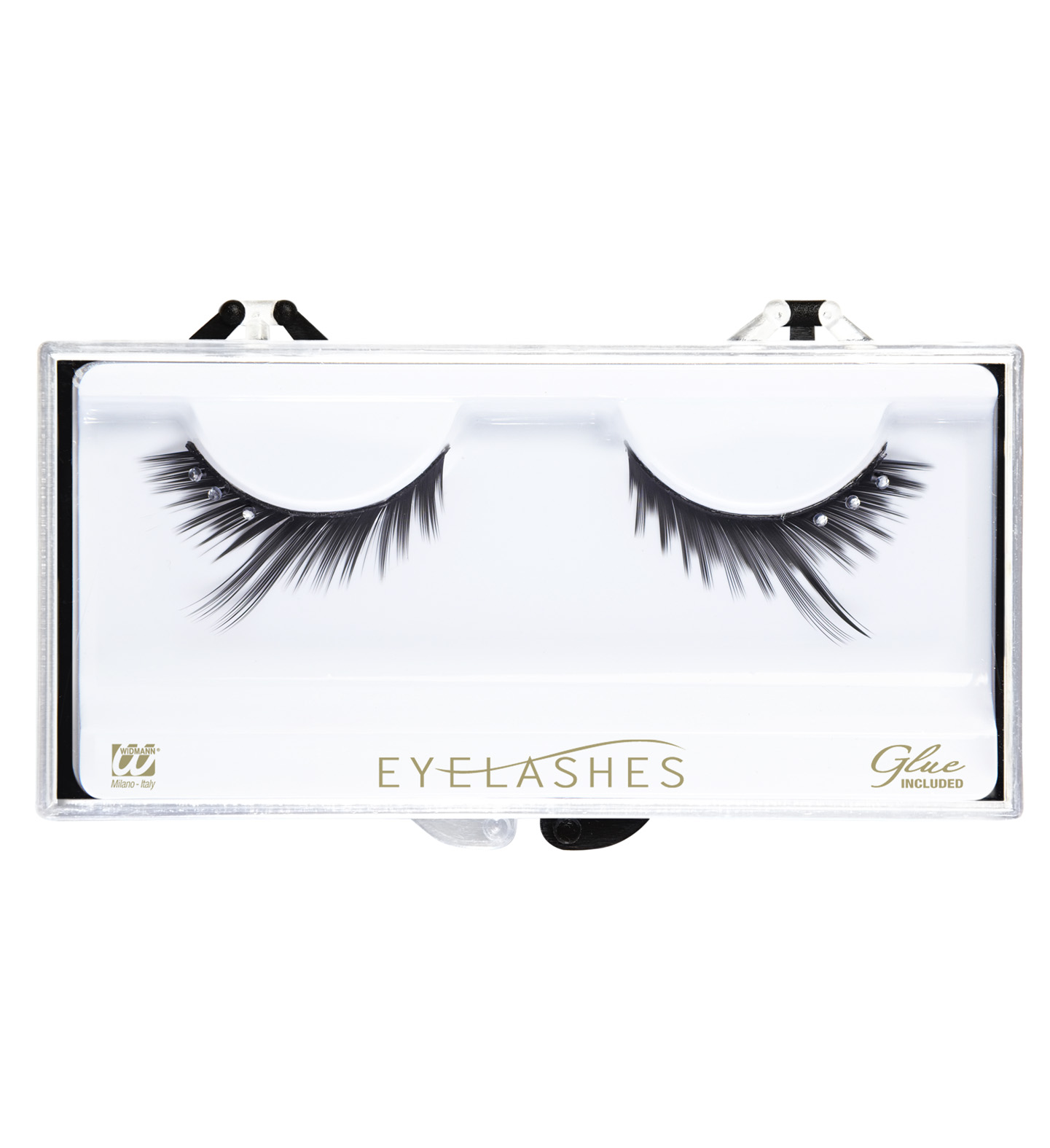 Eyelashes Black Peaked Strass Makeup Cosmetics