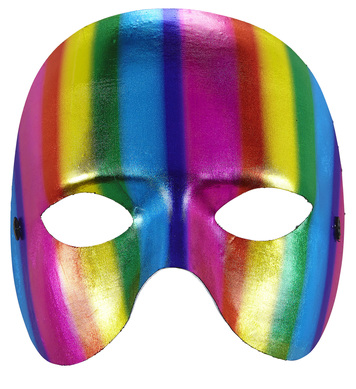 METALLIC RAINBOW CHINLESS MASK