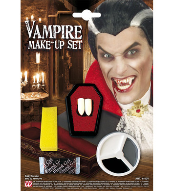 DRACULA MAKEUP SET WITH FANGS