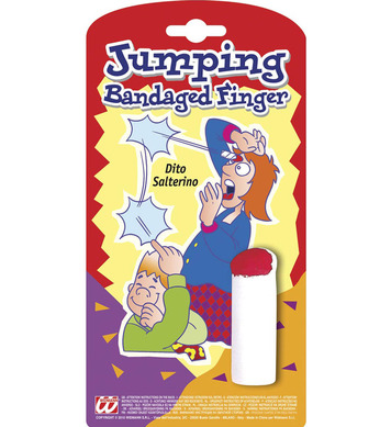 JOKE JUMPING BANDAGED FINGER