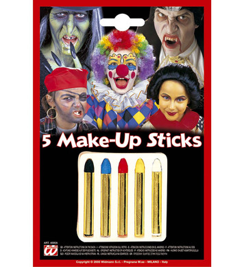 MAKEUP STICKS - Set of 5 colours **use 4000 first