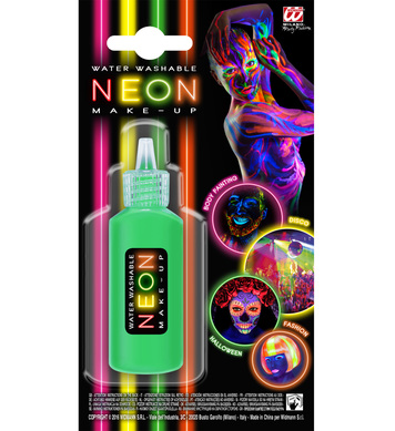 NEON GREEN CREAM MAKE-UP IN DISPENSER BOTTLE - WATER WASHABL