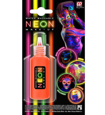 NEON ORANGE CREAM MAKE-UP IN DISPENSER BOTTLE - WATER WASHAB