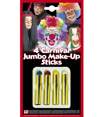 MAKEUP STICKS CARNIVAL JUMBO - set of 4