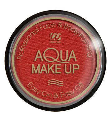 AQUA MAKEUP 15g - METALLIC RED