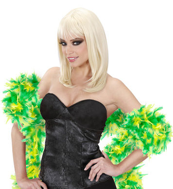 FEATHER BOA BICOLOUR 180cm GREEN/LIME