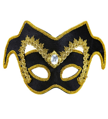 VENETIAN NOBLEMAN EYEMASK w/ GEM AND GOLD TRIM