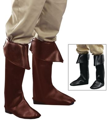 LEATHERLOOK BOOT COVERS black or brown