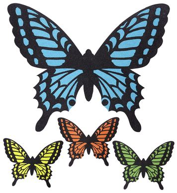 BUTTERFLY WINGS - 4 colours asstd