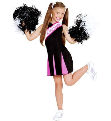 CHEERLEADER - BLACK/PINK - (dress) Childrens