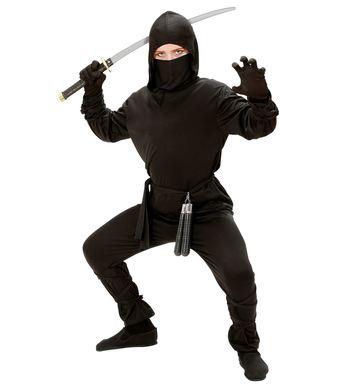 NINJA (hooded coat pants belt mask arm & leg ties) Childrens