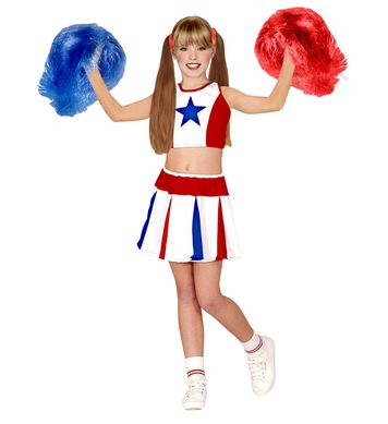 CHEERLEADER - WHITE/RED/BLUE (top skirt) Childrens