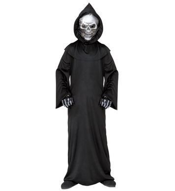HOLOGRAPHIC GRIM REAPER (robe mask bone gloves) Childrens