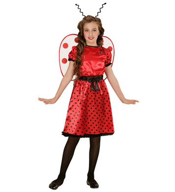 LADYBUG (dress underskirt bow belt wings antennas) Childrens