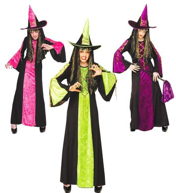 CASTLE WITCH COSTUME - 3 colours (dress hat) Childrens