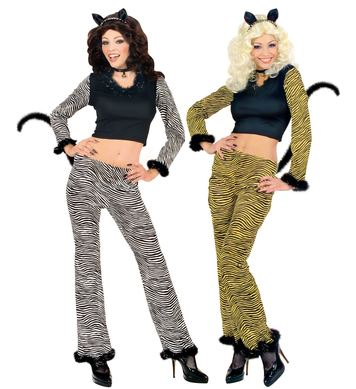 CAT COSTUME - M (top pants w/tail ears choker)