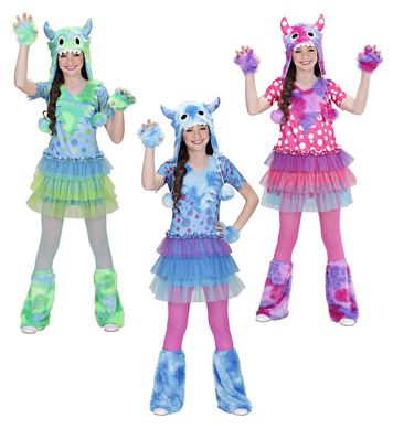 MONSTER GIRL (3-4yrs/4-5yrs) (dress hat gloves leg warmers)