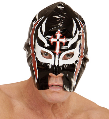 BLACK WRESTLER MASK