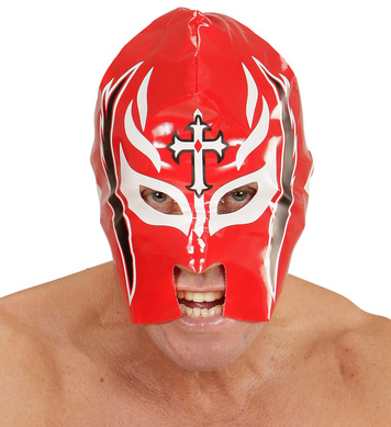 RED WRESTLER MASK